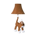 Child Bedroom Cat Desk Light Fabric One Light Animal Brown Reading Light with Plug In Cord