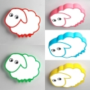 Animal Cartoon Sheep Ceiling Mount Light Acrylic Ceiling Lamp with White Lighting for Girl Bedroom