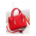 Designer Simple Solid Color Quilted Satchel Tote Bag For Women 23*8*18 CM