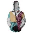 Cool Patch Jack Skellington Comic Cosplay Costume Long Sleeve Zip Up Hoodie
