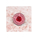 Letter TREAT PEOPLE WITH KINDNESS Rose Pink Bag Sweater Brooch