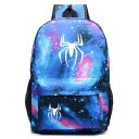 Hot Fashion Spider Galaxy Starry Sky Printed Sports Bag School Backpack with Zipper 31*14*45 CM