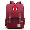 Fashion Large Capacity Red Spider Figure Printed Laptop Bag Casual School Backpack 29*13.5*43 CM