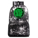 Unisex Fashion Green Hand Lightning Printed Casual School Bag Backpack 31*18*47 CM