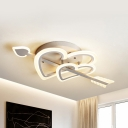 Acrylic Arrow of Love Ceiling Light Child Bedroom Cute LED Flush Mount Light in Warm/White
