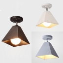 Rotatable Modern Style Flush Ceiling Light Craftsman 1 Light Metal Black/Gray/White Ceiling Fixture for Kitchen