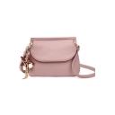 Fashion Plain Star Tassel Embellishment Crossbody Saddle Bag 22*8.5*17 CM
