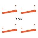 1/4 Pack Linear Ceiling Light Contemporary Black/Orange/White LED Hanging Light for Office