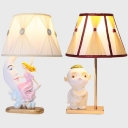 Resin Girl/Movie Character Desk Light 1 Light Creative Reading Light in White for Bedside Table