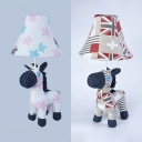 Toy Pony Child Bedroom Desk Light with Maple/Star Fabric 1 Light Creative Reading Light in White