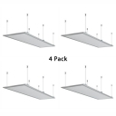 1/4 Pack Rectangle LED Hanging Lamp Acrylic Slim Panel White Ceiling Light in Warm/White for Office