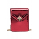 New Stylish Plain Laser Crossbody Cell Phone Purse with Chain Strap 13.5*6*17.5 CM