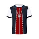 New Trendy Comic Cosplay Costume Crown Heart Printed Short Sleeve T-Shirt