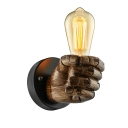 Industrial Wall Sconce Right Hand Shaped, Bar Coffee Indoor Style, 1 Light