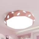 Acrylic Slim Panel Ceiling Light Acrylic Simple Style Green/Pink/White/Yellow Flush Mount Light