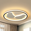 Angel Wing LED Flush Mount Light Simple Style Acrylic Ceiling Light in Warm/White for Adult Bedroom