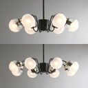 Indoor Decorative Lights Fixture for Bedroom 6/8 Light Modo Chandelier in Black Finish
