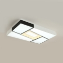 Simple Style LED Flush Mount Light Rectangle Acrylic Ceiling Lamp with Warm/White Lighting for Bedroom