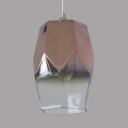 Contemporary Diamond Pendant Light Glass Metal Single Light Hanging Light for Restaurant Balcony