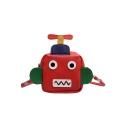 Fashion Cartoon Robot Shape Color Block Crossbody Purse for Kids 10*4*10 CM