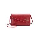 Trendy Letter Embellishment Long Strap Wallet Crossbody Bag 21*4*15 CM