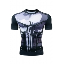 New Trendy Endgame Quantum Battle Suit Short Sleeve Round Neck Quick Drying Sport Running Fitted Black T-Shirt