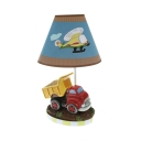Cartoon Truck LED Study Light Fabric 1 Light Energy Saving Desk Light for Child Bedroom