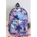 Fashion Pattern Waterproof Purple Polyester Leisure School Bag Travel Backpack for Girls 36*27*11 CM