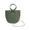 Stylish Shell Shape Solid Color PU Crossbody Bag for Women 22*20*9 CM