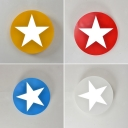 Simple Style Round Flush Ceiling Light with Star Acrylic Long Life Ceiling Lamp for Kindergarten