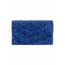 Designer Embroidery Thread Blue Envelope Bag Evening Clutch Bag 22*5.5*13 CM