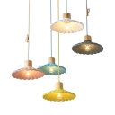 Nordic Style Scalloped Edge Pendant Light 1 Light Metal Hanging Light for Balcony Hallway