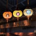 1/4 Pack Moroccan Pendant Light Lantern Shape 1 Light Glass Hanging Lamp for Bedroom(not Specified We will be Random Shipments)