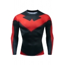Popular Comic Cosplay Costume Round Neck Long Sleeve Quick Drying Sport Runing Tight Fitness T-Shirt