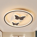 Teen Butterfly LED Flush Mount Light Acrylic Simple Style Stepless Dimming/Warm/White Ceiling Light