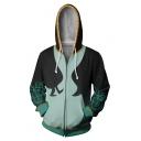 New Stylish Comic Cosplay Costume 3D Printed Long Sleeve Zip Up Hoodie