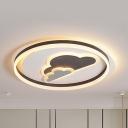 2-Cloud LED Flush Ceiling Light Lovely Acrylic Third Gear Ceiling Lamp for Kindergarten