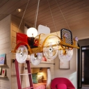 Yellow Classic Car Pendant Light Modern Creative Metal Hanging Light in Warm/White for Cloth Shop