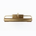 Bedroom Mirror Tube Wall Light 16 Inch 2 Lights Waterproof Brass LED Sconce Light in Brass