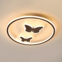 Acrylic Butterfly LED Ceiling Mount Light Kid Bedroom Modern Ceiling Lamp in Warm/White