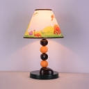 Wood Bead LED Night Light with Dinosaur Bedroom Eye-Caring 1 Light Cartoon Desk Light