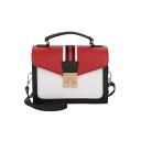 Fashion Classic Colorblock Stripe Pattern Small Satchel Crossbody Bag 21*9*16 CM