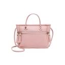 Cheap Fashion Plain Zipper Embellishment Satchel Messenger Bag 21*6*16 CM