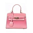 New Fashion Ombre Color Buckle Lock Satchel Work Handbag for Women