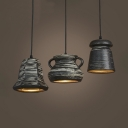 Creative Bell/Bucket/Pot Hanging Light 1 Light Ceramics Pendant Lamp for Cafe Restaurant