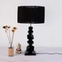 Crystal Abstract Body Table Light 1 Light Art Deco Plug In Desk Lamp in Black for Living Room