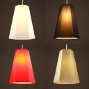 Fabric Trapezoid Shade Pendant Light 1 Light Simple Style Hanging Light for Cloth Shop Bedroom