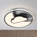 Sky View LED Flush Mount Light Modern Acrylic Ceiling Light in Warm/White for Foyer