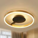 Spatula Shape Kindergarten Ceiling Mount Light Contemporary LED Flush Light in Warm/White