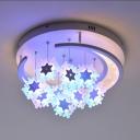 Girl Bedroom Snowflake Ceiling Mount Lihgt Acrylic Modern LED Flush Light in Warm/White